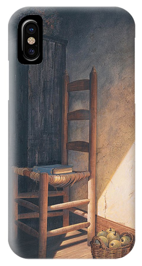 Country IPhone X Case featuring the painting A Warm Welcome by Michael Humphries