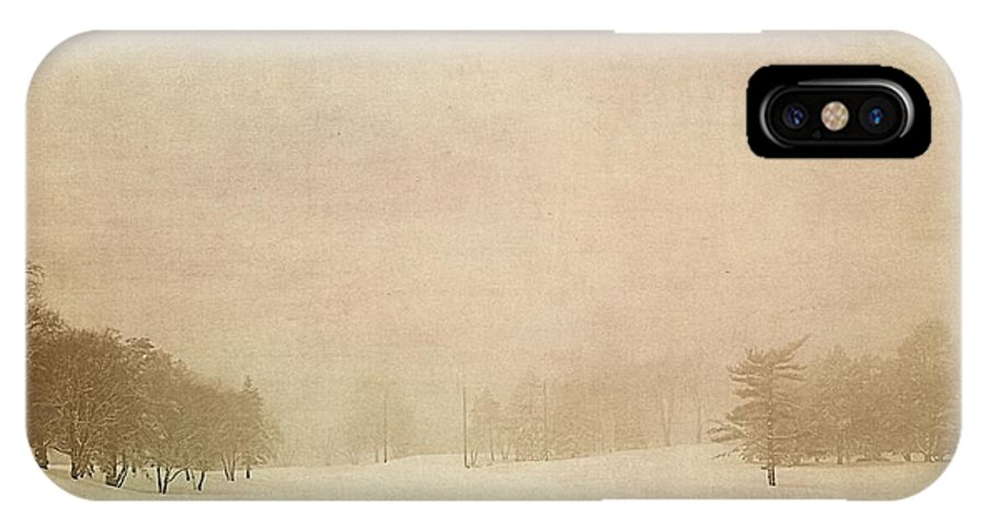 Winter IPhone X Case featuring the photograph A Winter's Fog II by Emily Sparks