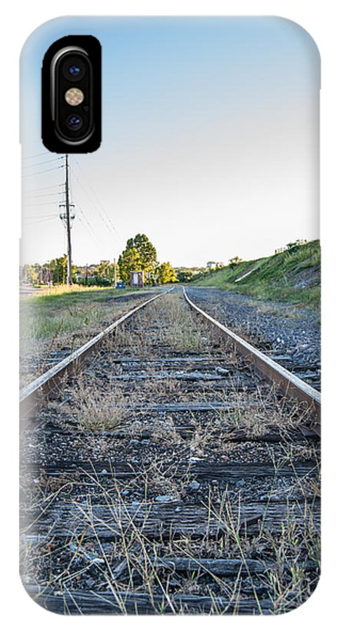 Train IPhone X Case featuring the photograph Abandon Train Tracks 2 by Ryan Bush