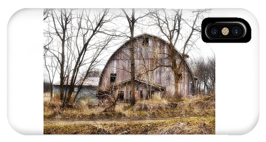 Barn IPhone X Case featuring the photograph Abandoned Barn by Laura Schramm-Behnke