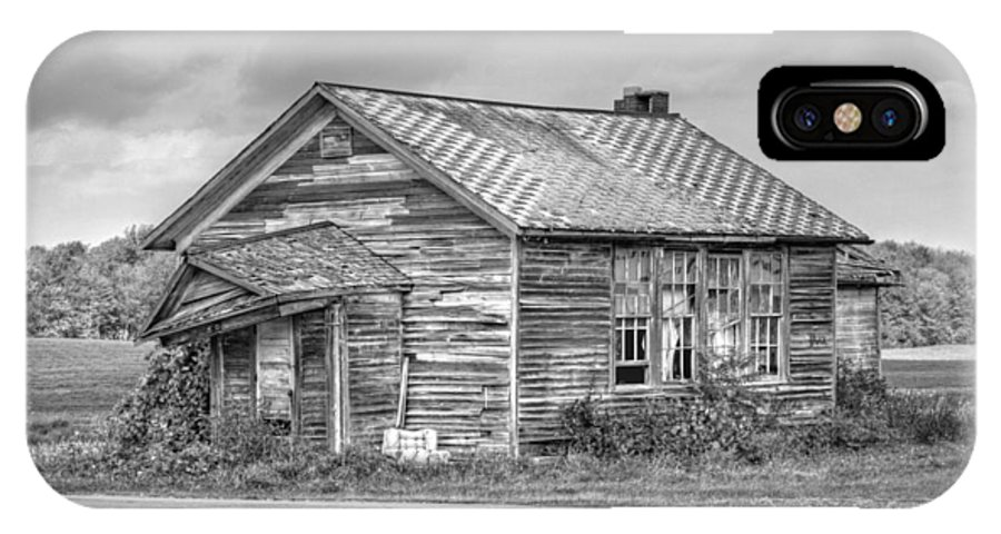 Abandoned IPhone X Case featuring the photograph Abandoned Cabin by Heather Allen