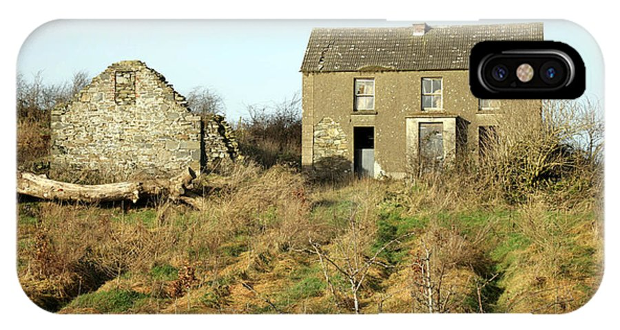 Europe IPhone X Case featuring the photograph Abandoned Irish Farm by Ros Drinkwater