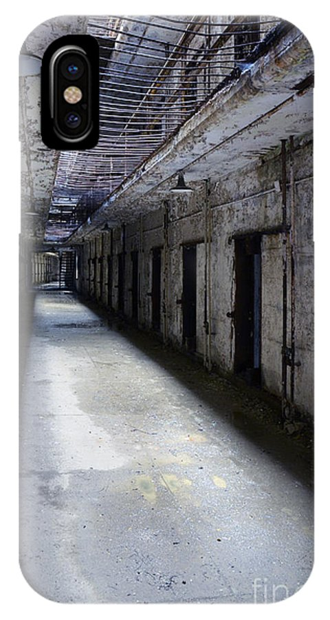 Gate IPhone X Case featuring the photograph Abandoned Prison by Jill Battaglia