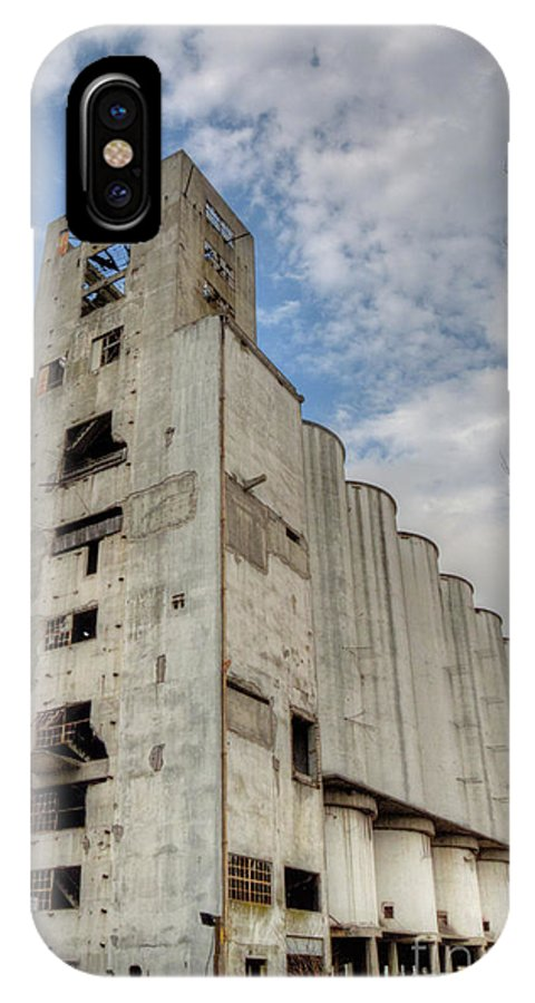 Buenos Aires IPhone X Case featuring the photograph Abandoned Riverside Factory by Deborah Smolinske
