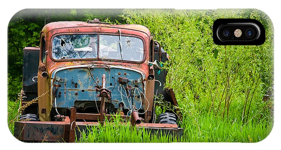 3scape Photos IPhone X Case featuring the photograph Abandoned Truck In Rural Michigan by Adam Romanowicz