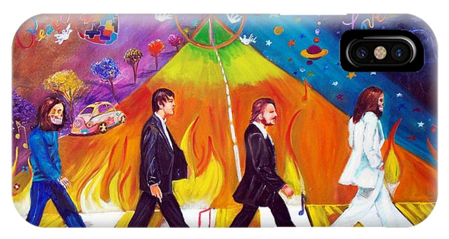 The Beatles IPhone X Case featuring the painting Abbey Road by To-Tam Gerwe