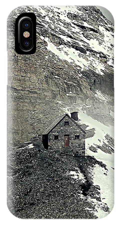 Canadian Rockies IPhone X Case featuring the photograph Abbot's Hut 2 by Steve Harrington