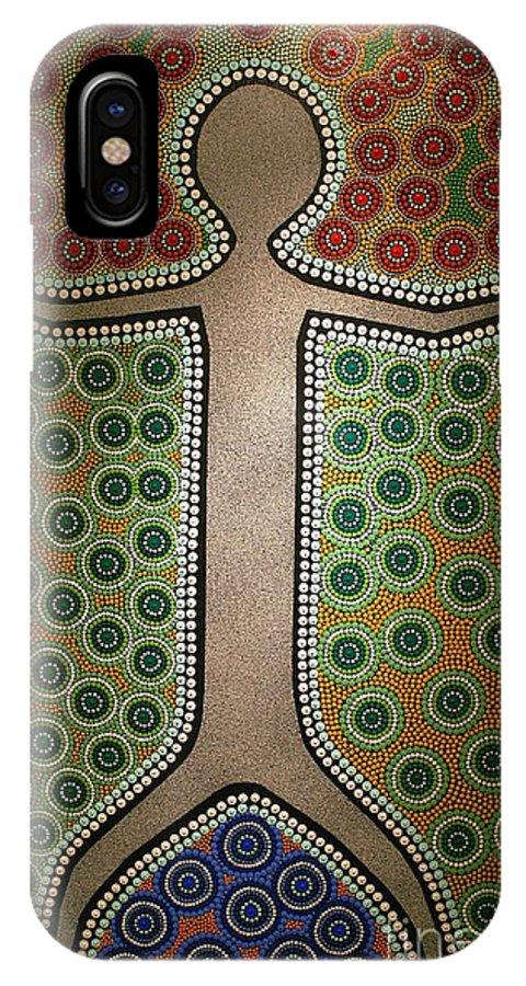 Art IPhone X Case featuring the photograph Aboriginal Inspirations 21 by Mariusz Czajkowski