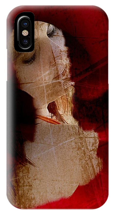 Red Rose Art Print IPhone X Case featuring the photograph About Prince Charming by Ernestine Manowarda