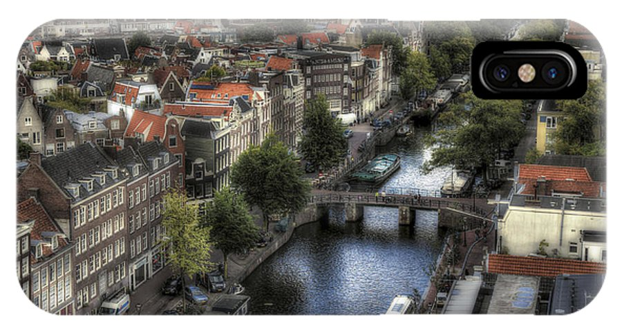 City IPhone X Case featuring the photograph Above Amsterdam by Arnie Arnold