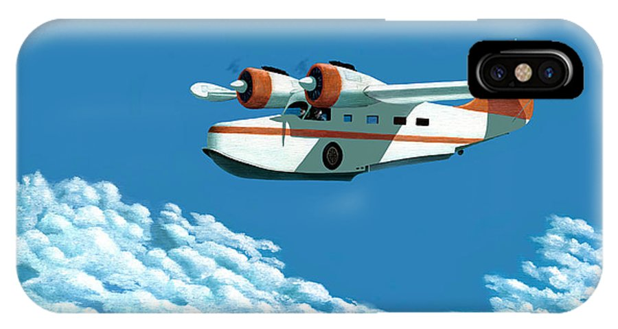 G-21 IPhone X Case featuring the painting Above It All The Grumman Goose by Gary Giacomelli