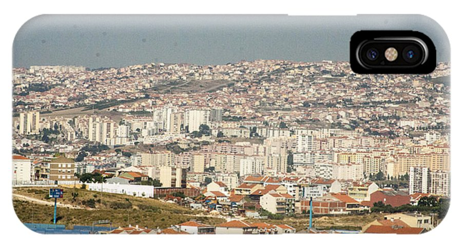Flying IPhone X Case featuring the photograph Above Lisbon Portugal by Darleen Stry