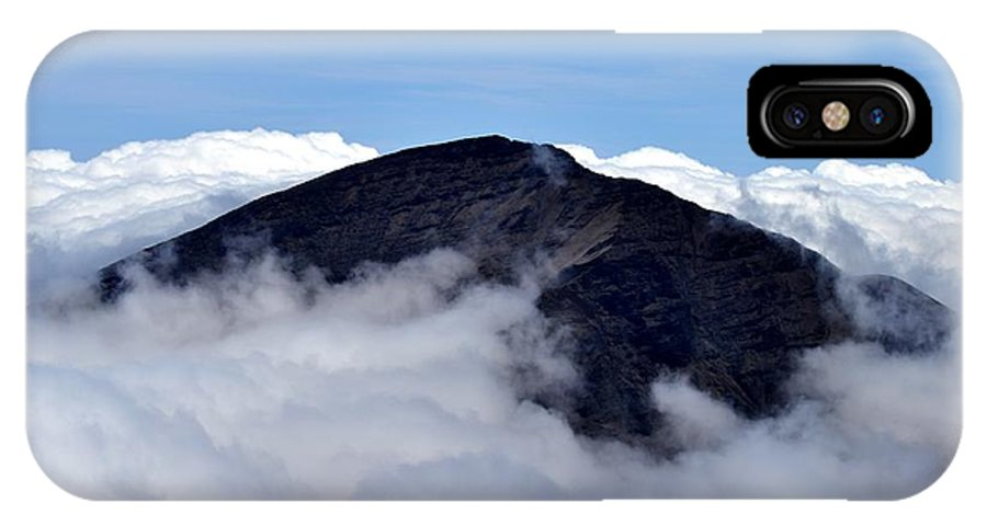 Haleakala IPhone X Case featuring the photograph Above The Clouds by Marcia b Wood