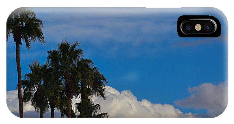 Palm Trees IPhone X Case featuring the photograph Above The Clouds by Ross Jamison