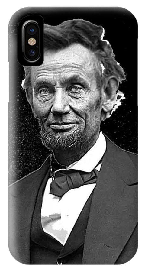 Abraham Lincoln 2 Alexander Gardner Photo Washington D.c. IPhone X Case featuring the photograph Abraham Lincoln 2 Alexander Gardner Photo Washington Dc February 1865 by David Lee Guss