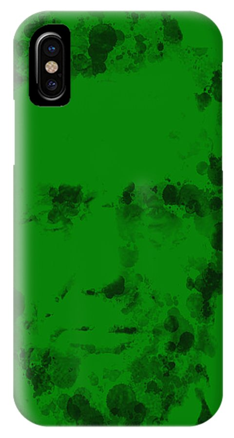 Abraham Lincoln IPhone X / XS Case featuring the painting Abraham Lincoln 2a by Brian Reaves