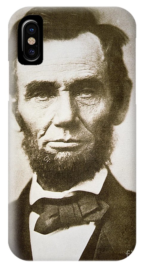 Abraham IPhone X Case featuring the photograph Abraham Lincoln by Alexander Gardner