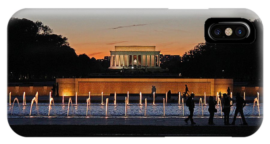 National IPhone X Case featuring the photograph Abraham Lincoln Memorial Sunset by Joseph Semary