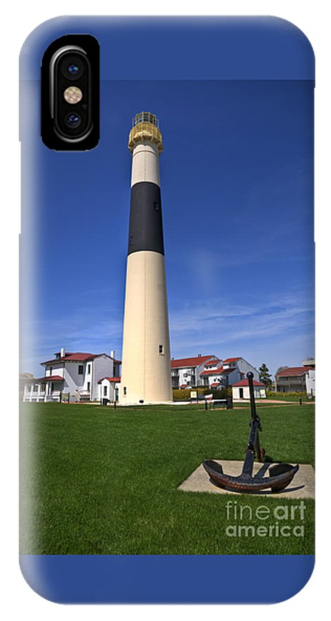 Lighthouse IPhone X Case featuring the photograph Absecon Lighthouse by Anthony Sacco