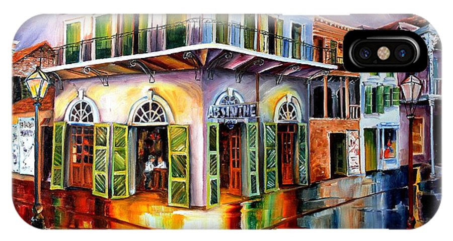 New Orleans IPhone X Case featuring the painting Absinthe House New Orleans by Diane Millsap