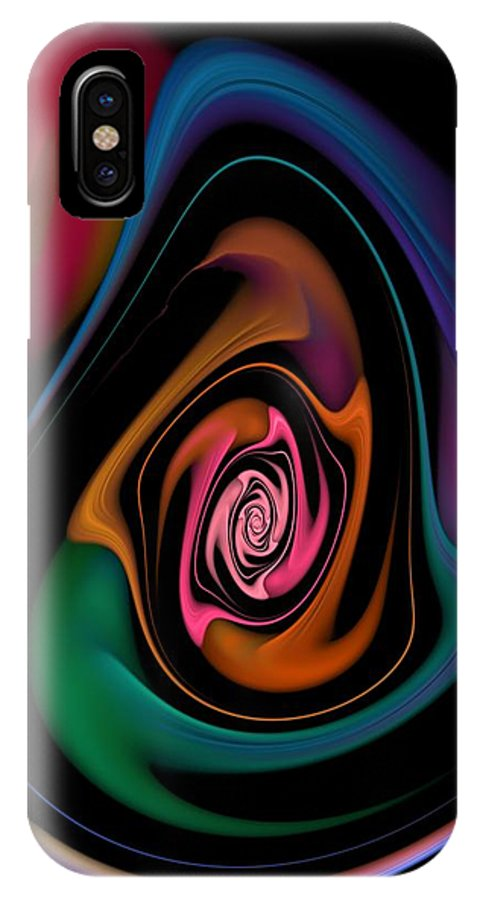 Fine Art IPhone X Case featuring the digital art Abstract 100913 by David Lane