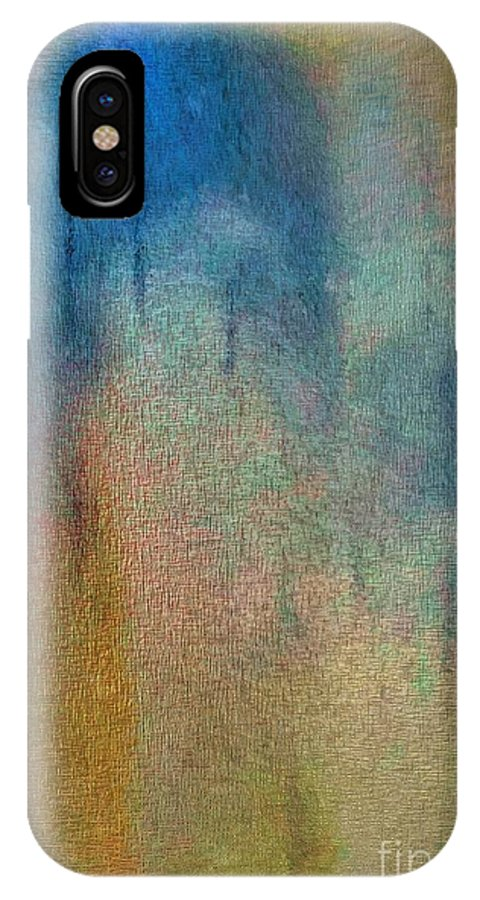 Abstract IPhone X Case featuring the digital art Abstract 1024 by John Krakora