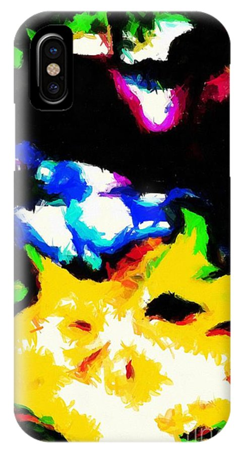 Abstract 103 IPhone X Case featuring the digital art Abstract 103 by Barbara Griffin