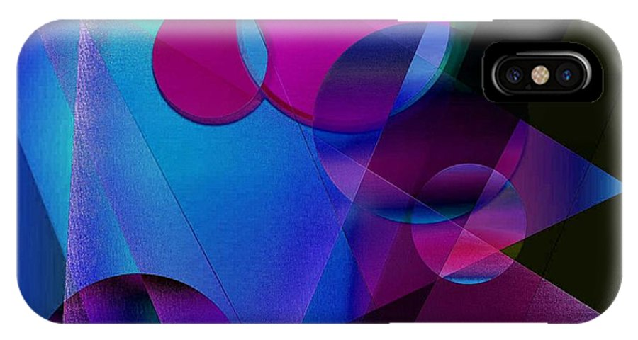Abstract IPhone X Case featuring the digital art Abstract 105 by Iris Gelbart