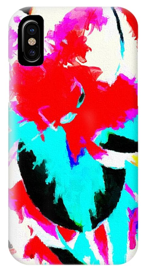 Abstract 107 IPhone X Case featuring the digital art Abstract 107 by Barbara Griffin