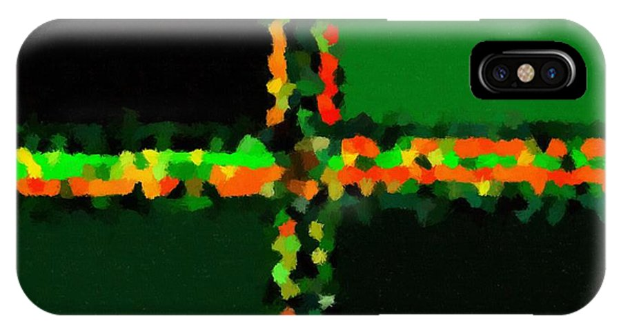 Abstract 118 IPhone X Case featuring the painting Abstract 118 by Barbara Griffin