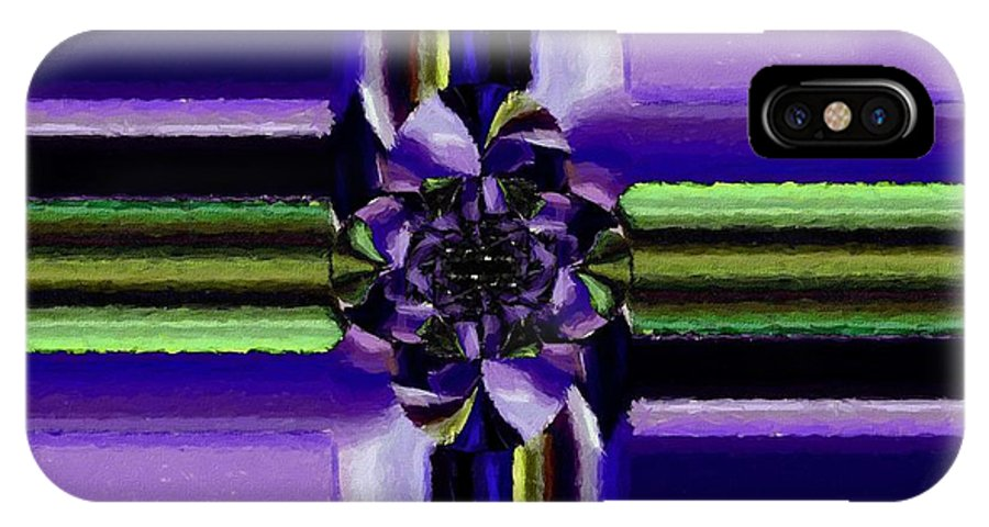 Barbara Griffin IPhone X Case featuring the painting Abstract 119 by Barbara Griffin