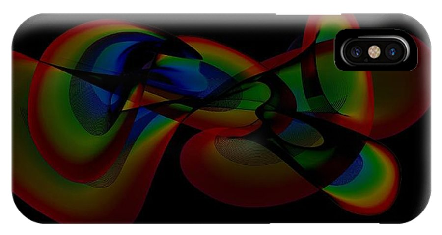 Digital IPhone X Case featuring the digital art Abstract 122 by Carol Sullivan