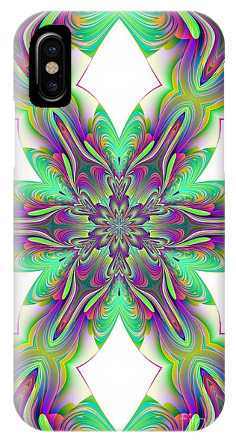Abstract 156 IPhone X Case featuring the digital art Abstract 156 by Maria Urso