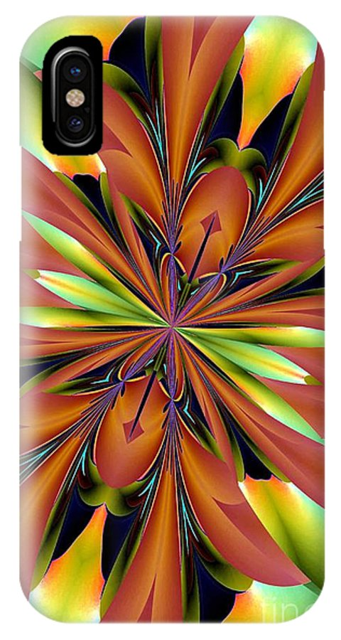 Abstract 162 IPhone X Case featuring the digital art Abstract 162 by Maria Urso