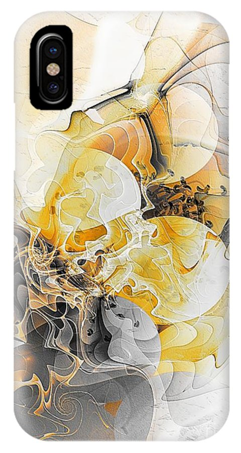 Abstract IPhone X Case featuring the digital art Abstract 393-08-13 Marucii by Marek Lutek