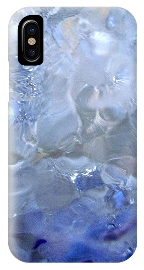 Blue IPhone X Case featuring the photograph Abstract 4110 by Stephanie Moore