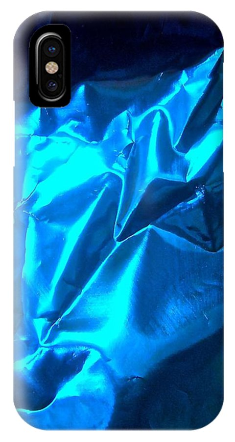 Blue IPhone X Case featuring the photograph Abstract 4477 by Stephanie Moore