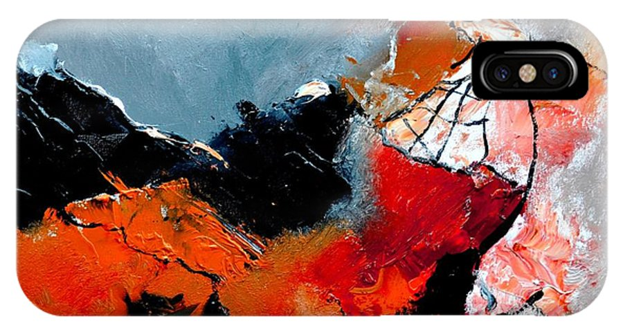 Abstract IPhone X Case featuring the painting Abstract 553101 by Pol Ledent