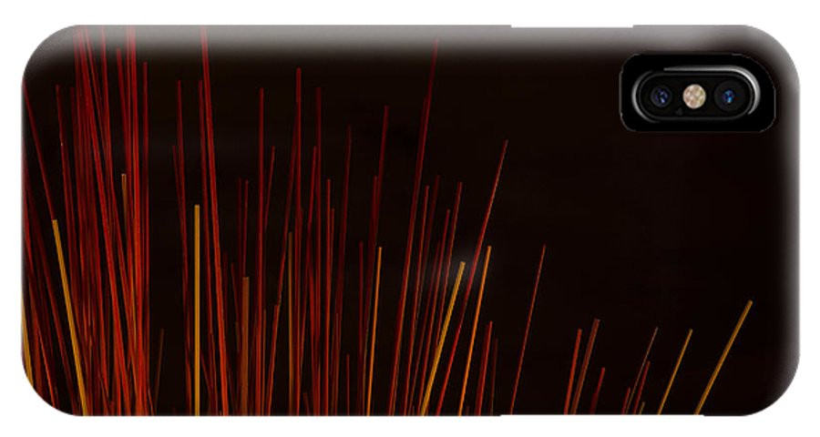 Abstract IPhone X Case featuring the photograph Abstract Background Of Red Sticks by Jacek Malipan