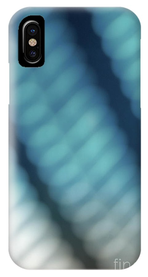 Abstract IPhone X Case featuring the photograph Abstract Blue Reflections by Amy Cicconi