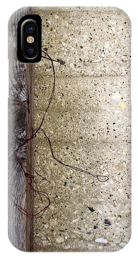 Industrial. Urban IPhone X Case featuring the photograph Abstract Concrete 11 by Anita Burgermeister