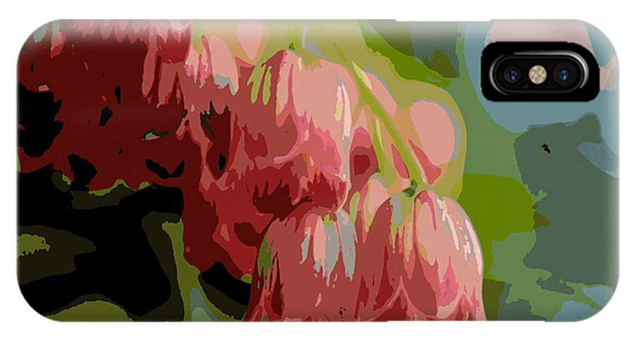 Plant IPhone X Case featuring the photograph Abstract Coral Bells by Kenny Glotfelty