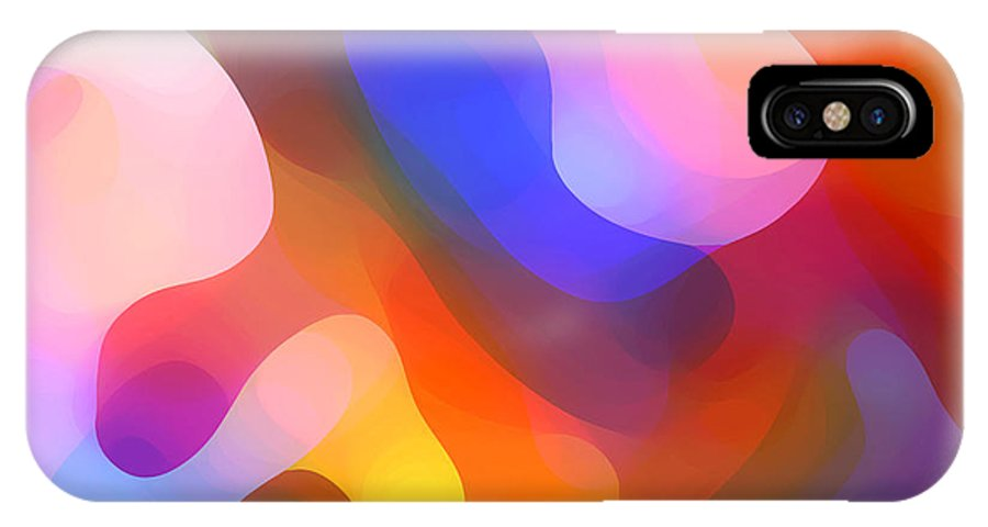 Abstract Art IPhone X Case featuring the painting Abstract Dappled Sunlight by Amy Vangsgard