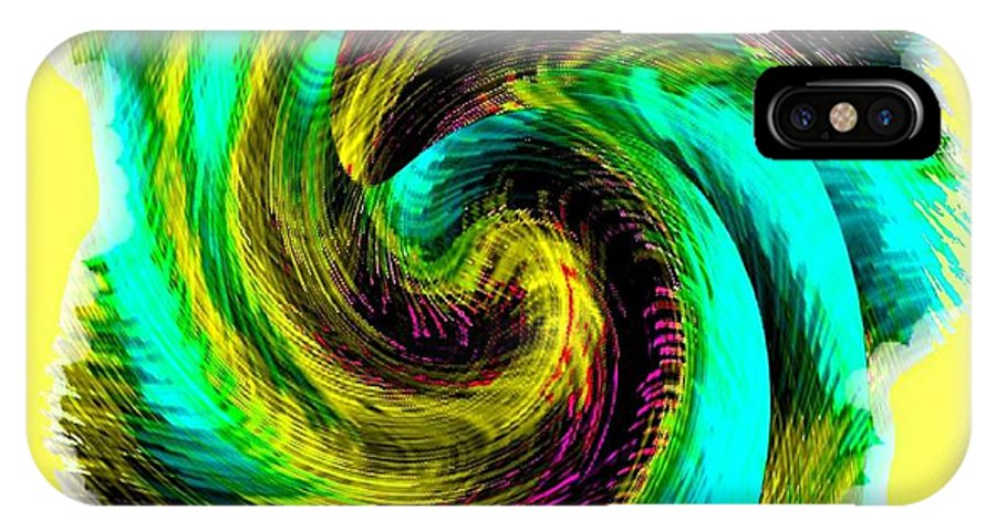 Abstract Fusion IPhone X Case featuring the digital art Abstract Fusion 201 by Will Borden
