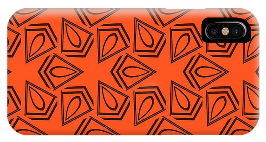 Paint IPhone X Case featuring the digital art Abstract Geometric Seamless Pattern by Alexander Rakov
