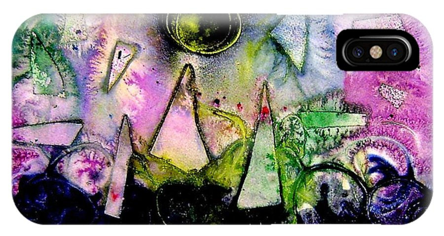 Abstract Landscape IPhone X Case featuring the mixed media Abstract Landscape I by John Nolan