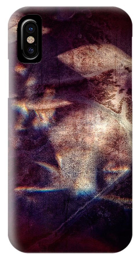 Abstract IPhone X Case featuring the photograph Abstract Light No 2 by Dave Garner