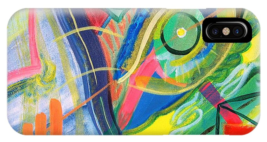 Abstract IPhone X Case featuring the painting Abstract No. 1 by Lynne Rene