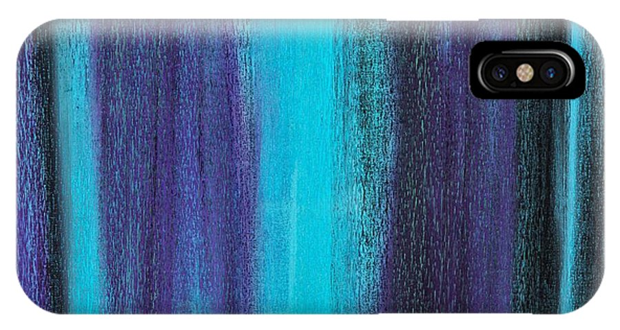 Brian Broadway Art IPhone X Case featuring the painting Abstract No 17 Altius by Brian Broadway