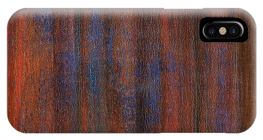 Brian Broadway Art IPhone X Case featuring the painting Abstract No 20 Amoris Gustum by Brian Broadway
